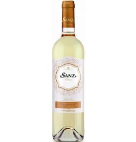 Bouteille de vin blanc Sanz Clasico 2018, appellation Rueda de Bodegas Vinos Sanz
