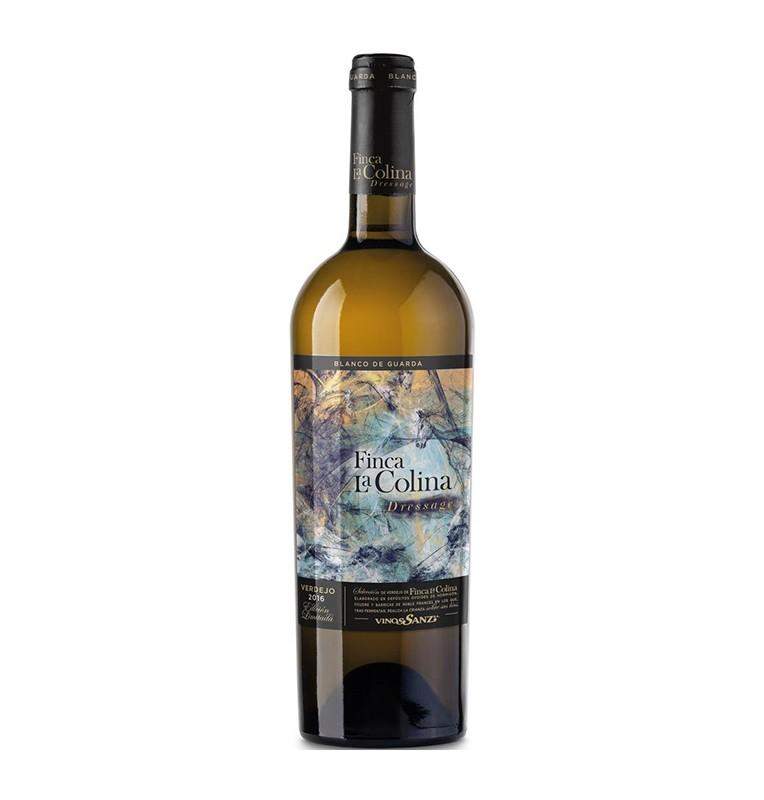 Bouteille de vin blanc élevé en chêne Finca la Colina Dressage 2016, appellation Rueda de Bodegas Vinos Sanz