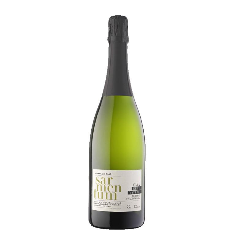 Bouteille de Cava vin pétillant espagnol Sarmentum de bodegas Covides, AOC Cava