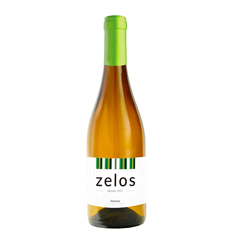 Bouteille de vin blanc espagnol Zelos de Bodegas Vina Cartin, AOC Rias Baixas