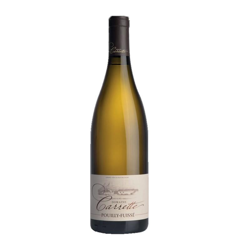 Bouteille de vin blanc Pouilly-Fuissé 2017 du Domaine Carrette