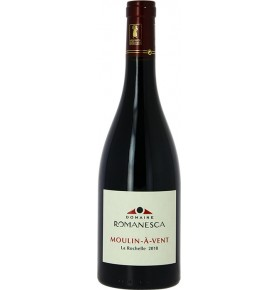 Bouteille de vin rouge Moulin a vent du domaine romanesca 2018