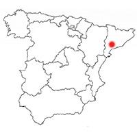 Localisation de l'appellation Conca de Barbera (Espagne)