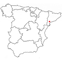 Localisation de l'appellation Priorat (Espagne)