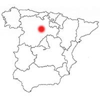 Localisation de l'appellation Ribera del Duero (Espagne)
