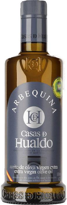 Arbequina 500 ml - Bouteille d'huile d'olive extra-vierge qualité premium de Casas de Hualdo